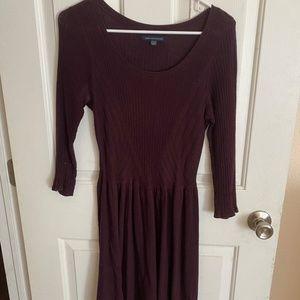 Purple knit dress warm fall